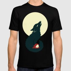 Little Red Riding Hood Black LARGE Mens Fitted Tee