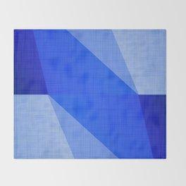 Lapis Lazuli Shapes - Cobalt Blue Abstract Throw Blanket