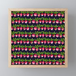 Watercolor radish seamless pattern Framed Mini Art Print
