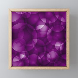Dark intersecting purple translucent circles in bright colors with a blueberry glow. Framed Mini Art Print