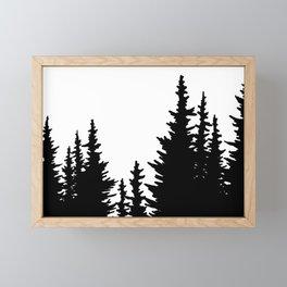 Dense Forest Tree Line Framed Mini Art Print