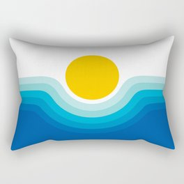 Ocean Canyon Rectangular Pillow