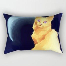 yellow cat Rectangular Pillow