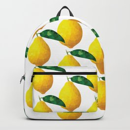 lemon pattern offset grid, fill, repeating, tiled | elegant Backpack