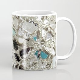 An Explosion of Sparkly Silver Glitter, Glass and Mirror Coffee Mug