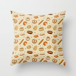 Delicious Baked Goods Throw Pillow