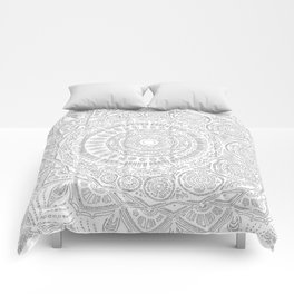 Untitled II (white on white) Comforters