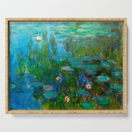 Water Lilies by Monet Serving Tray