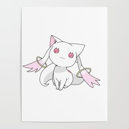 Kyubey Cat Poster