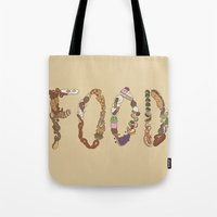 food Tote Bags featuring FOOD by Brinny Langlois