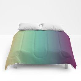 Purple Green Beige Gradient Comforters