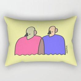 train of thought Rectangular Pillow