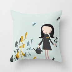 Nature must be nurtured Throw Pillow