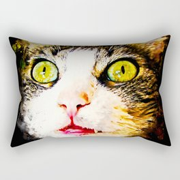 norwegian forest cat omg splatter watercolor Rectangular Pillow