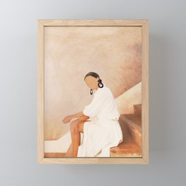 Lady in Waiting Framed Mini Art Print
