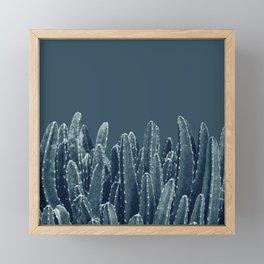 Blue Cacti Dream #1 #minimal #decor #art #society6 Framed Mini Art Print