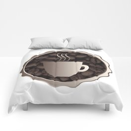 Roasted Coffee Cup Sign Comforters