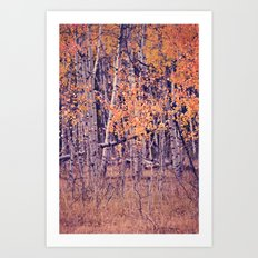 Autumn Orange I Art Print