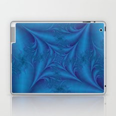 Blue Square Spiral Laptop & iPad Skin