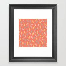 fall feathers Framed Art Print