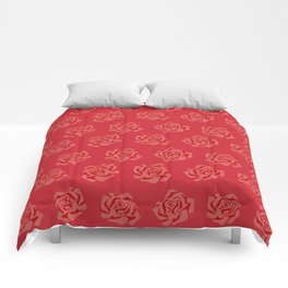 - Flame scarlet rose Comforters