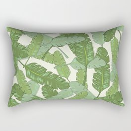 Banana Leaf Print Rectangular Pillow