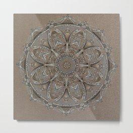The Blue Arches Mandala Metal Print