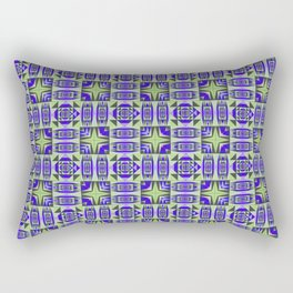 Digital Geometric Quilt Design Rectangular Pillow