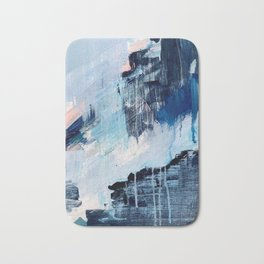 Vibes: an abstract mixed media piece in blues and pinks by Alyssa Hamilton Art Badematte
