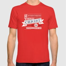 Philippians 4:13 Mens Fitted Tee 2X-LARGE Red