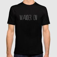 Wander On Mens Fitted Tee Black MEDIUM