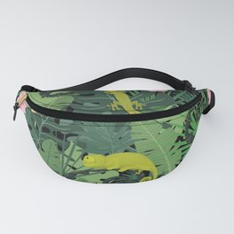 Chameleons And Salamanders In The Jungle Pattern Fanny Pack