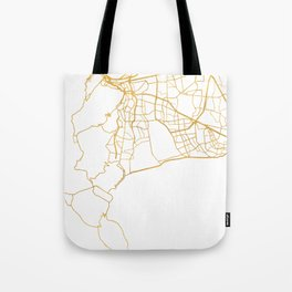 CAPE TOWN SOUTH AFRICA CITY STREET MAP ART Tote Bag