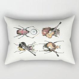 Meet the Beetles (white option) Rectangular Pillow