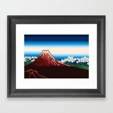 Rainstorm Below the Summit Framed Art Print