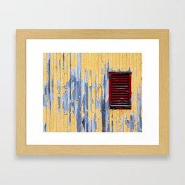 The Red Window Framed Art Print