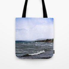 Storm on the Lake Tote Bag