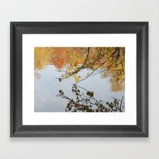 The River During Fall Framed Art Print