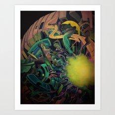 Core Planet Art Print