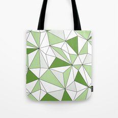 Geo - gray, green and white. Tote Bag