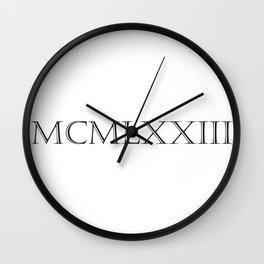 Roman Numerals - 1973 Wall Clock