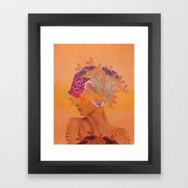 Woman in flowers III Framed Art Print