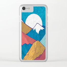The Crosshatch Sky Clear iPhone Case