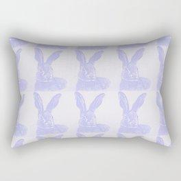Blue hare stripe Rectangular Pillow