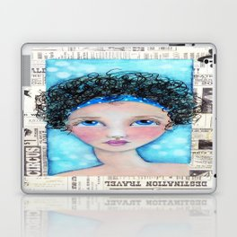 Whimiscal Girl with Curley Hair Laptop & iPad Skin