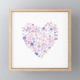 Floral Valentine Framed Mini Art Print