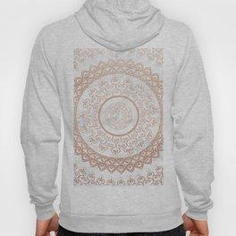 Mandala - rose gold and white marble Hoody