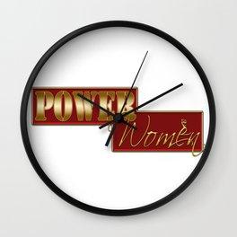 Power women Wall Clock