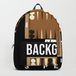 Backgammon Saying Funny Backpack