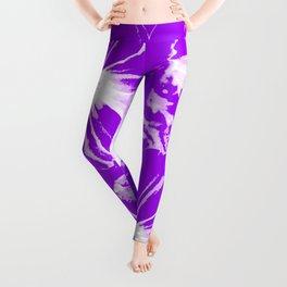 Purple Flowers Leggings